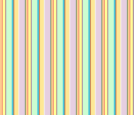 Juicy Lemony Spring Day Stripes fabric by walkwithmagistudio on Spoonflower - custom fabric