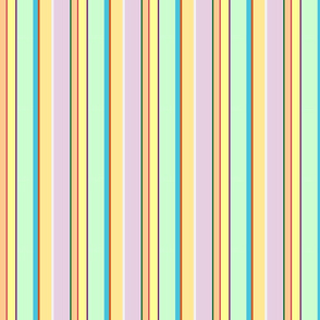 Juicy Lemony Spring Day Stripes