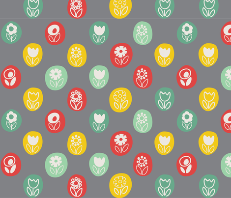 mod_flowers fabric by pragya_k on Spoonflower - custom fabric