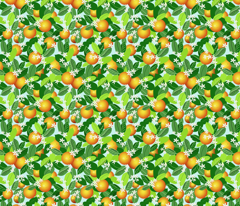 Citrus Abundance 1 fabric by vinpauld on Spoonflower - custom fabric