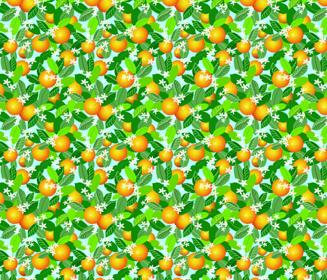 Citrus Abundance 2 fabric by vinpauld on Spoonflower - custom fabric