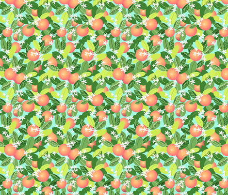 Citrus Abundance 4 fabric by vinpauld on Spoonflower - custom fabric