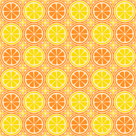 Orange Lemon Citrus fabric by holladay on Spoonflower - custom fabric