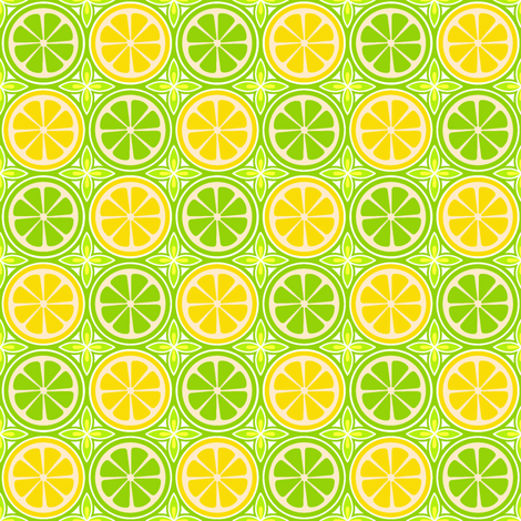 Lemon Lime fabric by holladay on Spoonflower - custom fabric