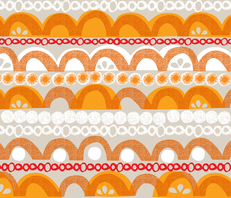citrus slice stripe fabric by ottomanbrim on Spoonflower - custom fabric