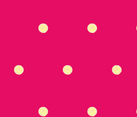 The Lonely Slice - hot pink fabric by walkwithmagistudio on Spoonflower - custom fabric