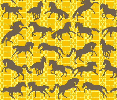 Horse Bits Honeycomb fabric by smuk on Spoonflower - custom fabric