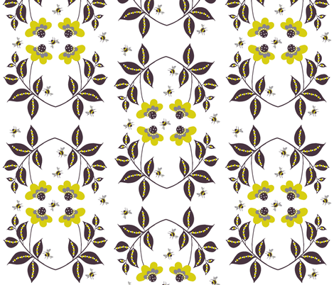 midsummer floral white fabric by paragonstudios on Spoonflower - custom fabric