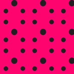 Dot Dot Dot  in Black &Fuchsia