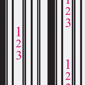 Easy as 123 in Fuchsia & Black