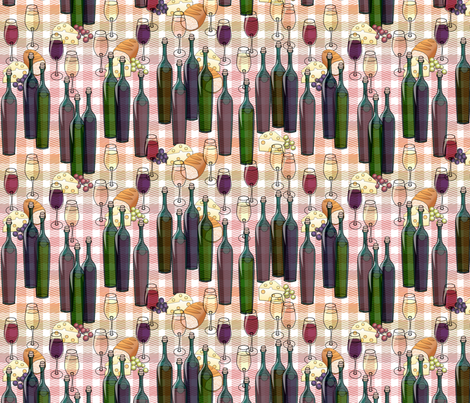 zigzagfandel picnic small fabric by glimmericks on Spoonflower - custom fabric