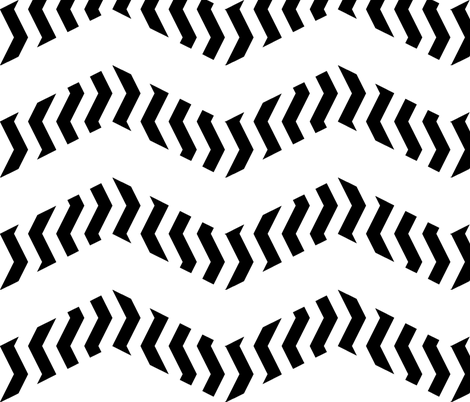 zigzag zebra chevron fabric by weavingmajor on Spoonflower - custom fabric