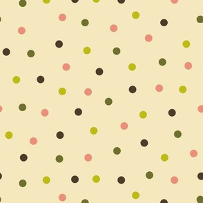 colored polka dots