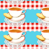 Cup of Tea and gingham