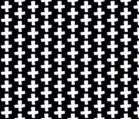 Swiss Cross - B/W fabric by andrea_lauren on Spoonflower - custom fabric