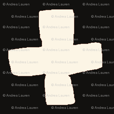 Swiss Cross - Black/Cream