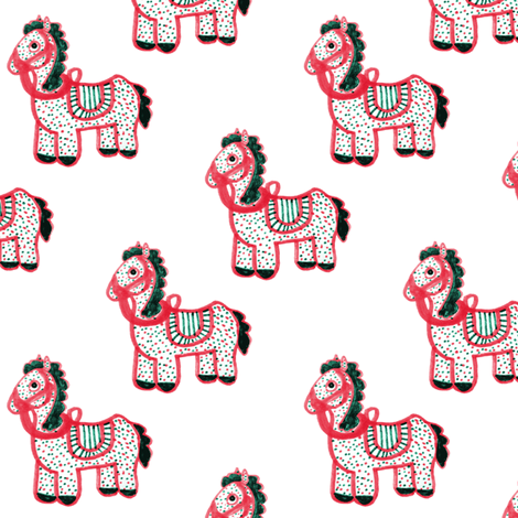Horse Spotted Pink fabric by pond_ripple on Spoonflower - custom fabric