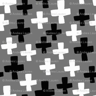 Swiss Cross - Black and White