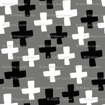 Swiss Cross - Black and White