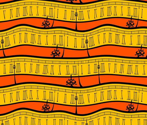 time goes wandering (solar) fabric by weavingmajor on Spoonflower - custom fabric