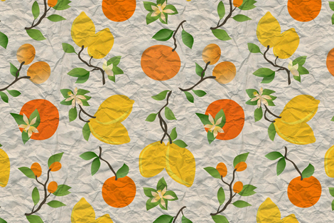 Washi Citrus fabric by vo_aka_virginiao on Spoonflower - custom fabric