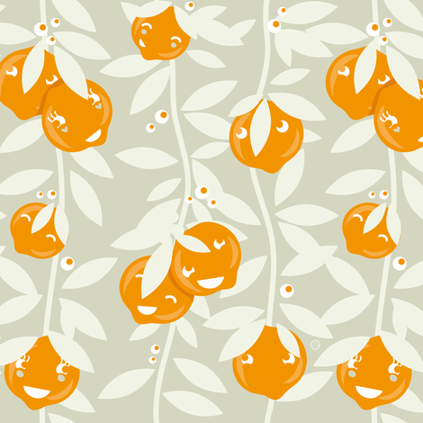 Orange Summer fabric by verycherry on Spoonflower - custom fabric