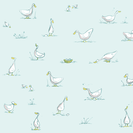 Free-range Duckies fabric by mulberry_tree on Spoonflower - custom fabric
