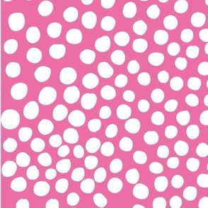 Doodle Dots - white magenta