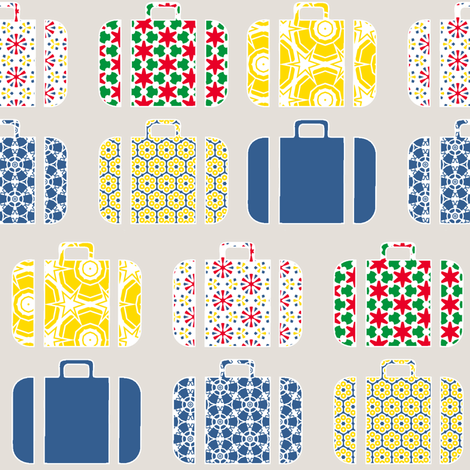 suitcases fabric by susiprint on Spoonflower - custom fabric
