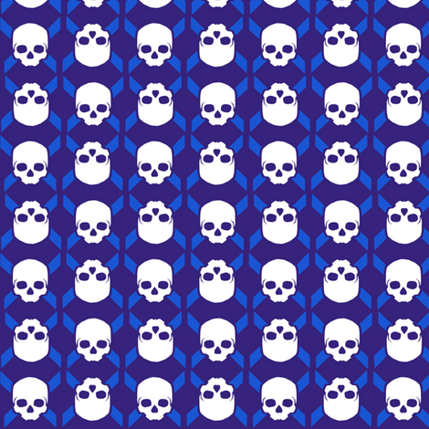 skull symbol fabric by susiprint on Spoonflower - custom fabric