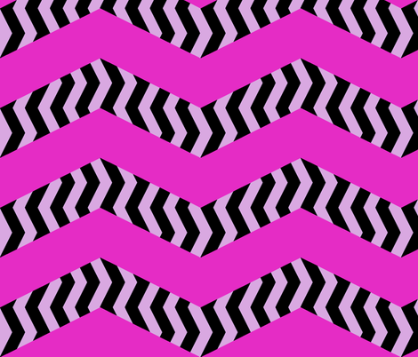 mad chevrons - blushing zebra fabric by weavingmajor on Spoonflower - custom fabric