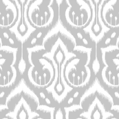 Ikat Damask Large_Silver