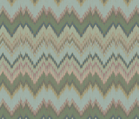 Lake Ikat Chevron fabric by sparrowsong on Spoonflower - custom fabric
