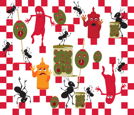 Picnic_Havoc-01 fabric by sandij on Spoonflower - custom fabric