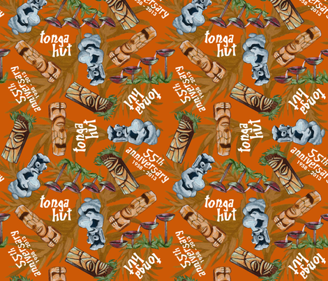 tonga_hut_55th_anniversary fabric by eric_october on Spoonflower - custom fabric