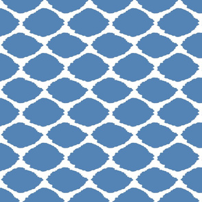 Gem Blue Oval Ikat
