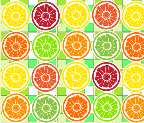 SOOBLOO_LEMONS_ETC_ONE-1-01 fabric by soobloo on Spoonflower - custom fabric