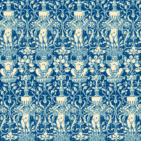 Offerings Blue fabric by amyvail on Spoonflower - custom fabric