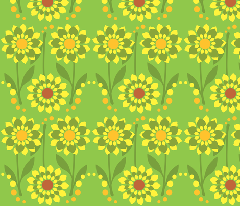 Zesty Citrus Flowers  fabric by linda_santell on Spoonflower - custom fabric