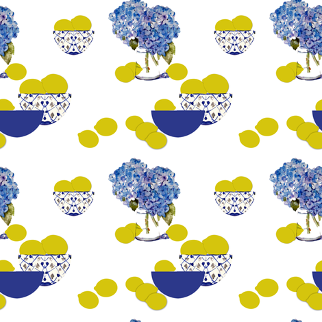Hydrangeas and Lemons