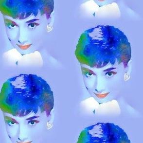 Blue Audrey Hepburn