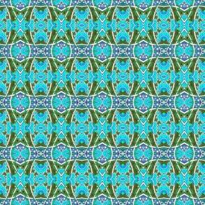 Blue Flower Sine Weave