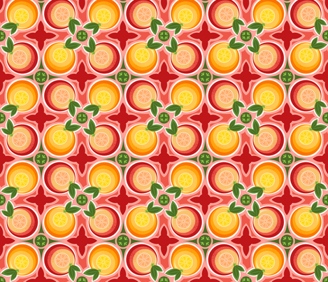 Citrus Bliss fabric by dianef on Spoonflower - custom fabric
