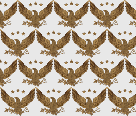 gold eagle - soft gold fabric by glimmericks on Spoonflower - custom fabric