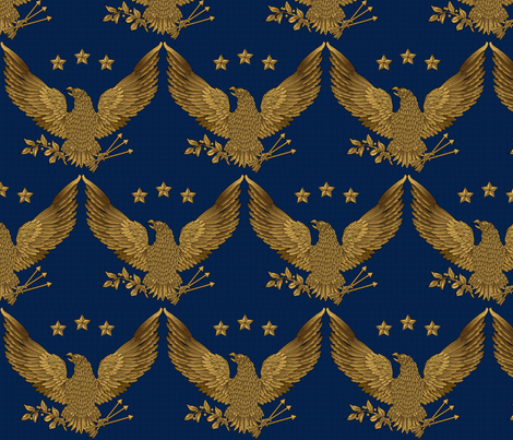 gold eagle - bright on blue