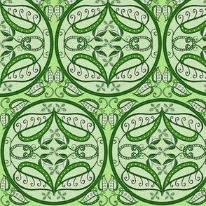 trellis in lush green