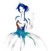 Watercolor ballerina - small scale