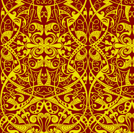 The Golden Thread fabric by whimzwhirled on Spoonflower - custom fabric