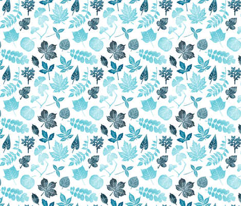 leaves fabric by wideeyedtree on Spoonflower - custom fabric