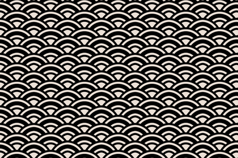 sunrise champagne and black fabric by ninaribena on Spoonflower - custom fabric